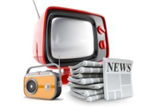 TV ads, radio ads, print ads